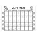 Calendrier à colorier et à tracer 2019-2020