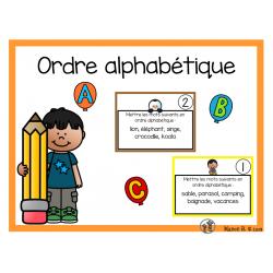 Ordre alphabétique (cartes à tâche)