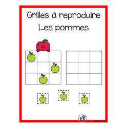 Reproduire une grille (Les pommes)