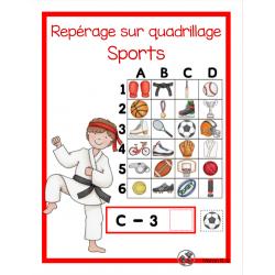 Repérage sur quadrillage (Les sports)