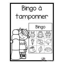 Bingo à tamponner préscolaire  (printemps)