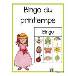 Bingo préscolaire (printemps)