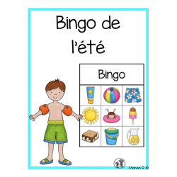 Bingo préscolaire (été)