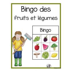 Bingo préscolaire (fruits et légumes)