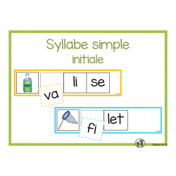 Syllabe simple initiale