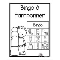 Bingo à tamponner préscolaire (rentrée scolaire)