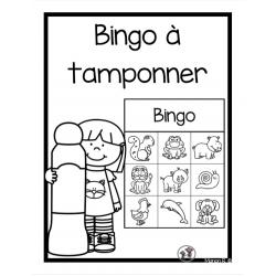 Bingo à tamponner préscolaire (animaux)