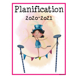 Planificateur 2020-2021 (4 am et 2 pm)