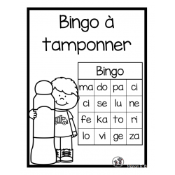 Bingo à tamponner (syllabes simples)