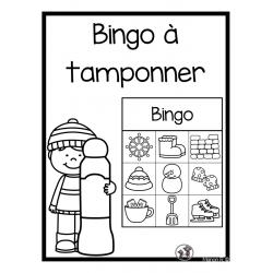 Bingo à tamponner préscolaire (hiver)