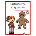 Motricité fine et numératie (1 à 5) Noël