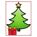 Motricité fine et numératie (1 à 10) Noël