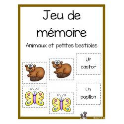 Jeu de mémoire (animaux et petites bestioles)