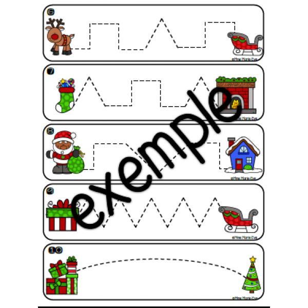 Le tracé du Père Noël