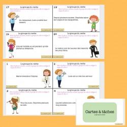 Le groupe du verbe - cartes à tâches