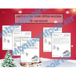 Tâches d'évaluation en lecture  - Noël