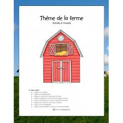 Cahier Passe-temps-Ferme-Activités en français