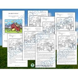 Lecture-Une visite à la ferme (7 versions)