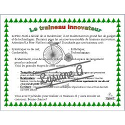 Traîneau innovateur pour Père Noël