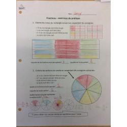 Exercice pratique sur les fractions
