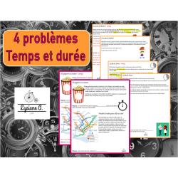 4 problèmes sur le temps et la durée