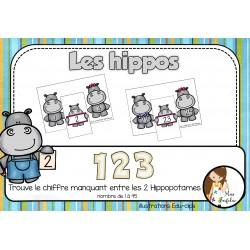 Les hippos -123