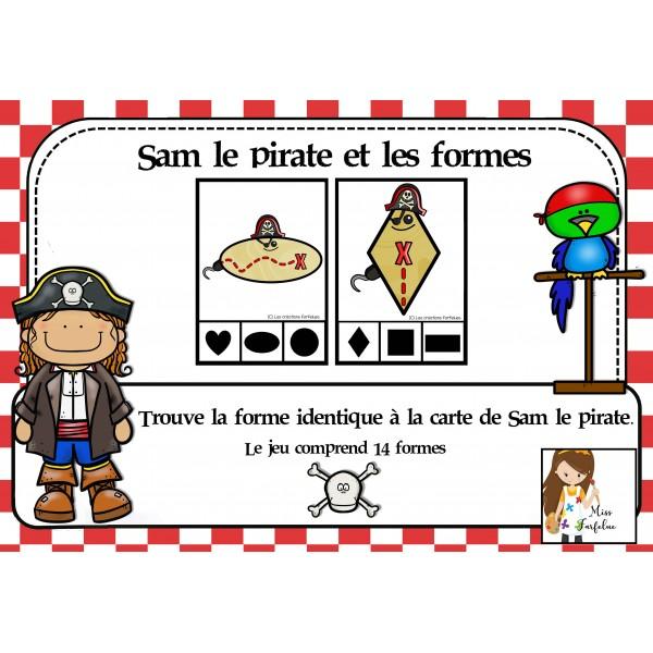 Sam le pirate et les formes