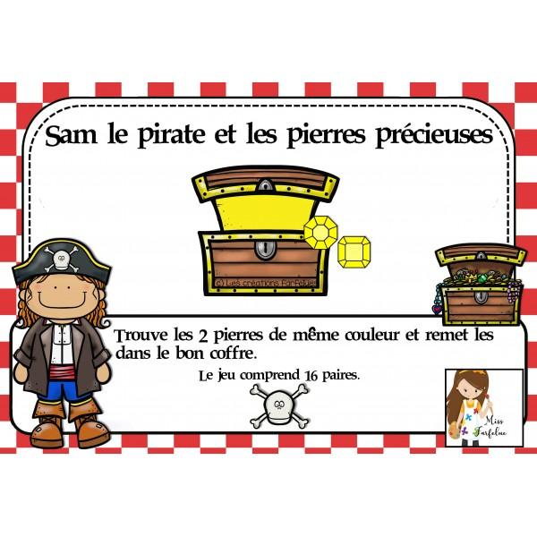 Sam le pirate et les pierres précieuses