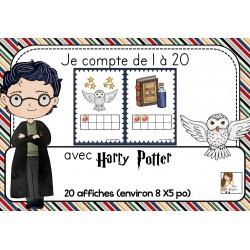 Je compte de 1 à 20 avec Harry Potter