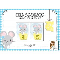 Affichettes des nombres avec Bibi la souris