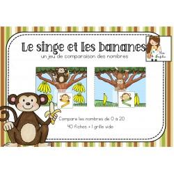 Le singe et des bananes