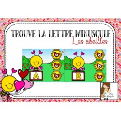 Trouve la lettre minuscule - les abeilles