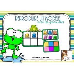 Reproduis un modèle - avec les grenouilles
