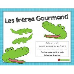 Les frères Gourmand (<, > et = à)