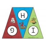 Banderole de lettres (thème : pirates)