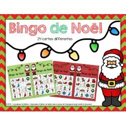 Bingo de Noël (24 cartes différentes)