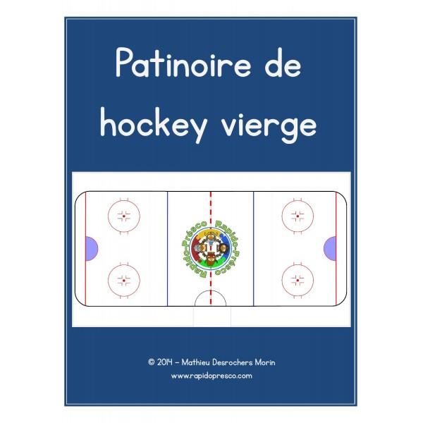 Patinoire de hockey vierge