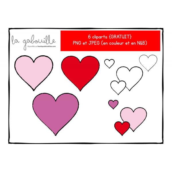 Cliparts de coeurs pour la St-Valentin {GRATUIT}
