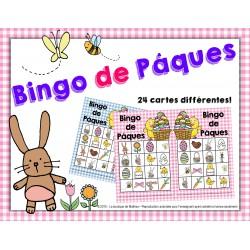 Bingo de Pâques (24 cartes différentes)