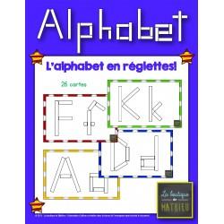 L'alphabet en réglettes! [26 cartes]
