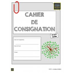 Cahier de consignation du 2e, 3e cycle