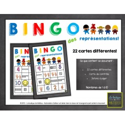Jeu de bingo des représentations des nombres