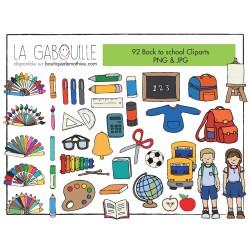 92 Cliparts – Retour à l'école