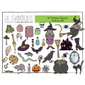 MÉGA-ENSEMBLE DE CLIPARTS HALLOWEEN (60 cliparts)