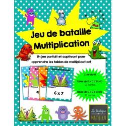 Le jeu de bataille des monstres – Multiplications