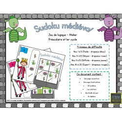 Sudoku médiéval (20 fiches, solutions, diplôme)
