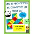 Jeu de quatriminos de conversion de mesures!