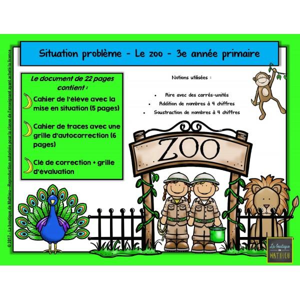 Situation-problème : Le zoo (3e année)