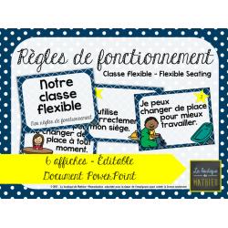 Affiches – Règles – Classe flexible – Éditable