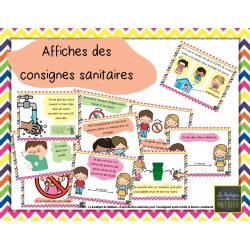Affiches – Consignes sanitaires – COVID-19